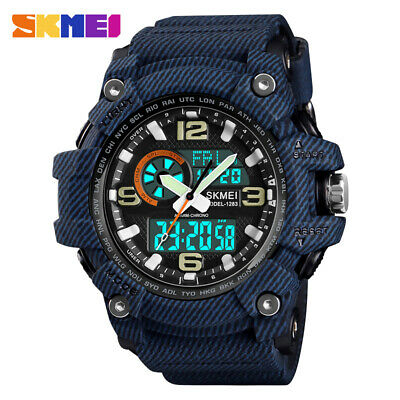 Men Military Sport Waterproof LED Digital Analog Count down Tactical Wrist Watch