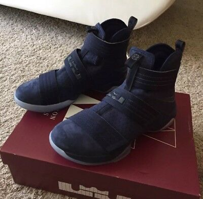 0333661089a Nike Lebron Soldier 10 SFG Midnight Navy Mens Size 10 844378-444