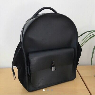 Black Buscemi backpack with gun metal lock in size large new without tags