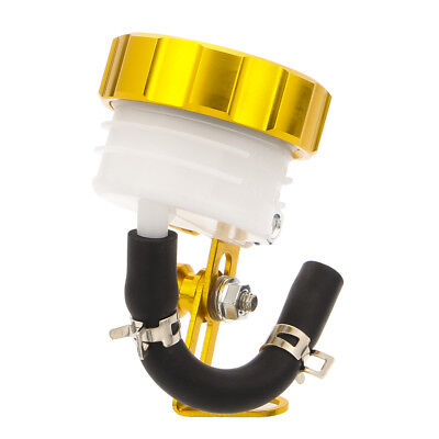Motorcycle Front Brake Clutch Tank Master Cylinder Fluid Oil Reservoir Gold