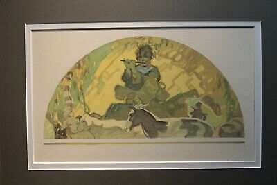 John Ford Clymer (1907-1989) RCA American Original Watercolor Painting Religious