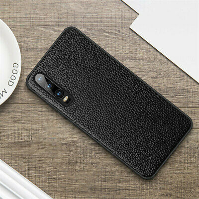 Genuine Business Leather Case Silicone Bumper Cover For Huawei P30 Pro Lite P20