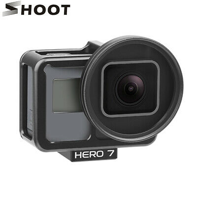 Aluminum Alloy Protective Case Frame For GoPro Hero 7 6 5 Black + UV Lens Filter
