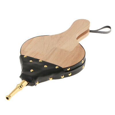 Portable Handheld Wood Fireplace Bellow Wooden Bellows with Hanging Strap
