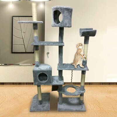 167cm Cat'S Tree Tower Activity Centres Scratching Post Climbing Jumping Toy