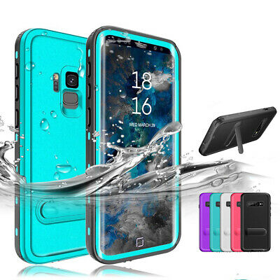 Waterproof 360° Stand Phone Case Cover Armor For Samsung Galaxy S8 S9 Plus S10e
