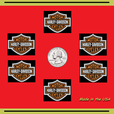 Six (6) Harley Davidson Stickers - decorate your car, motorcycle, mug, laptop