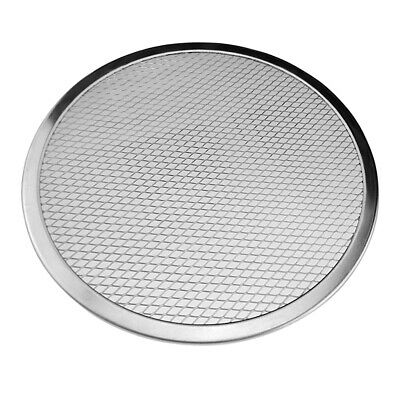 15inch Pizza Screen Aluminium Seamless Rim Pizza Mesh Round Tray Oven Baking