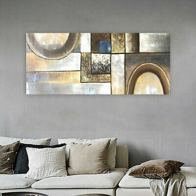 Modern Abstract Stretched Canvas Oil Painting Hand Painted Wall Art Framed