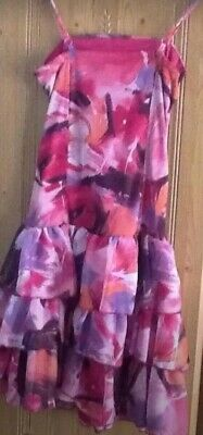 Pretty Pinks Child's Party Dress - Age 10-11  140-146cms Worn Once Excellent