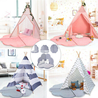 New Kids Teepee wigwam play tent with soft baby  play mat  creeping Carpet mat