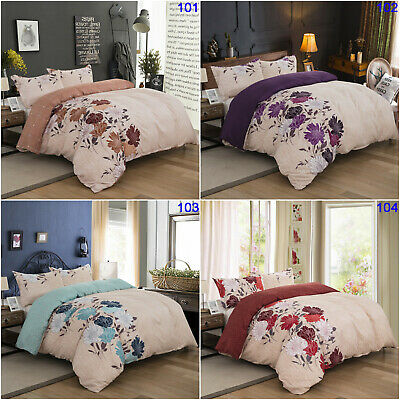 Floral Quilt Duvet Doona Cover Set Double Queen King Size Bed Covers Bedding Set