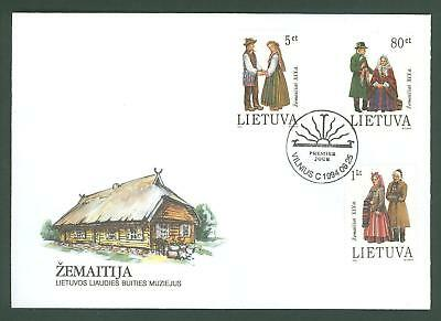 Lithuania D96 FDC 1994 3v National Costumes Below face