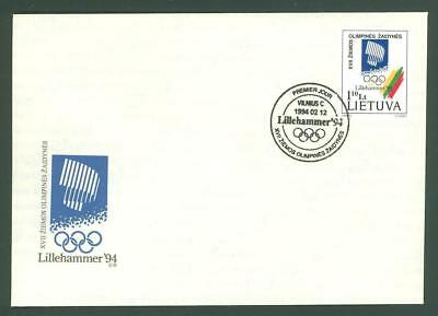 Lithuania D90 FDC 1994 Sport Olympics Below face
