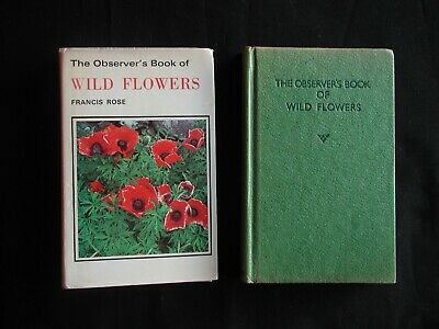 The Observer's Book Of Wild Flowers  *Francis Rose 1978 Frederick Warne * D/Wrap