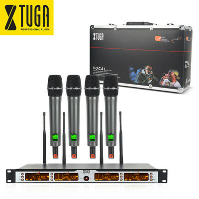 SKM4000 PLUS Professional 4-Channels UHF Wireless Microphone System for Stage DJ