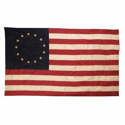 Darice Tea Stained 13 Star Colonial American Flag 36 x 60 inches