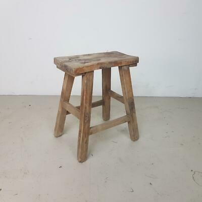 VINTAGE RUSTIC ANTIQUE WOODEN STOOL MILKING EXTRA LARGE No L235