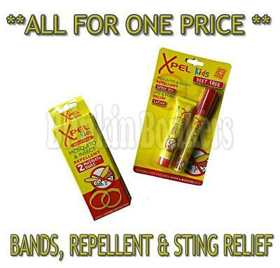 Kids Mosquito Repellent Bands & Insect Bite Sting Spray Relief Cream Deet Free
