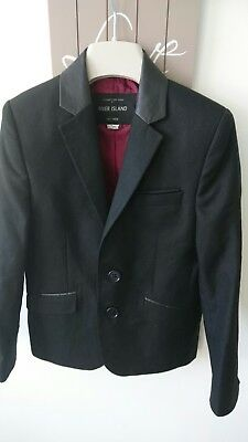 River island boy black faux leather details suit jacket 7 years worn twice