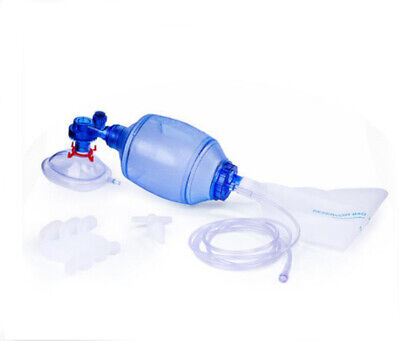 New PVC CPR Simple Manual Resuscitator Rescue Mask CPR Training Bag Valve Mask