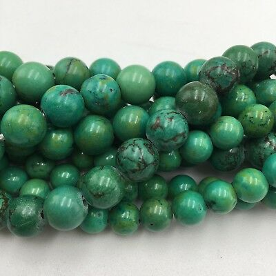 "Natural Green Turquoise Round Beads 15.5"" Strand 4mm-18mm"