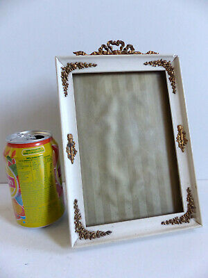 LARGE ANTIQUE FRENCH EARLY 20th CENTURY BRONZE PICTURE PHOTO FRAME 1910's .