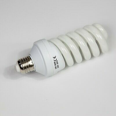 35W ES27 Screw fit Low Energy Spiral Daylight Photography Lamp Bulb 5400K White