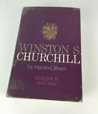 Vintage Winston S Churchill Martin Gilbert Volume III 1914-1916 Collectable Book