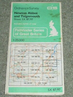Ordnance Survey Pathfinder map sheet SX 87/97 Newton Abbot & Teignmouth
