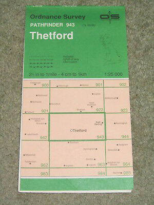 Ordnance Survey Pathfinder map sheet 943 (TL 88/98) Thetford