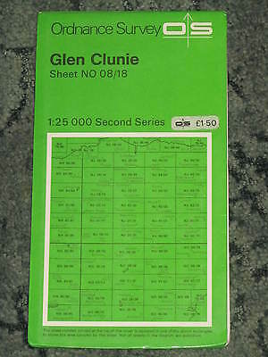 Ordnance Survey 1:25,000 Second Series: Glen Clunie - Sheet NO 08/18