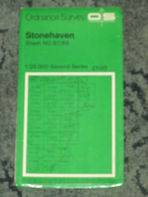 Ordnance Survey 1:25,000 Second Series: Stonehaven - Sheet NO 87/88