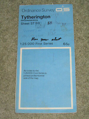Ordnance Survey 1:25,000 First Series: Tytherington ST 68 - 1972 edition