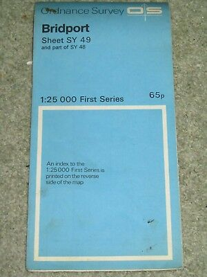 Ordnance Survey 1:25,000 First Series: Bridport - SY 49 - 1959 edition