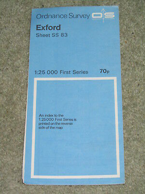 Ordnance Survey 1:25,000 First Series: Exford - SS 83 - 1962 edition