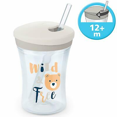 NUK Action Cup Toddler Cup Twist Close Soft Drinking Straw Leak Proof 230ml