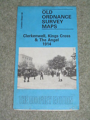 "Godfrey Edition reprint of 1916 Ordnance Survey - 50 Clerkenwell - 15"":1mile"
