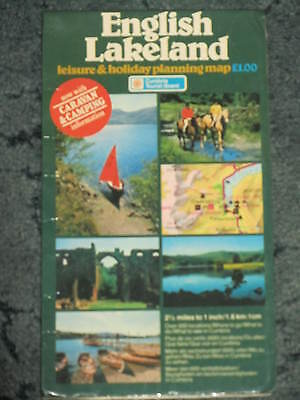English Lakeland Leisure and Holiday Planning Map