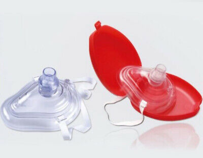 New CPR Resuscitator Rescue Masks One-Way Breath Valve First Aid Training 10 Pcs