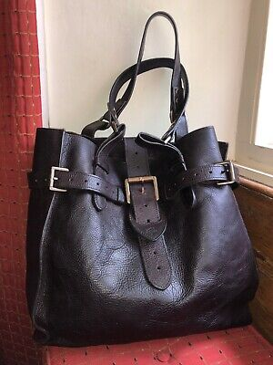 Mulberry Elgin Tote In Chocolate Darwin Leather - Fab Vintage Condition.