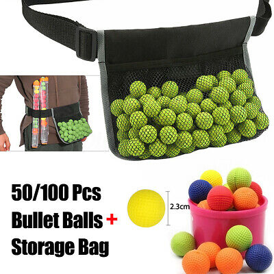 50-100PCS Bullet Balls For Nerf Rival Apollo Zeus + Adjustable Waist Storage Bag