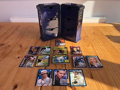 Dr Who Monster Invasion Cards plus Tardis Storage Rare and Ultra Rares
