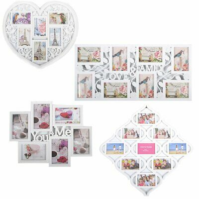 FAMILY LOVE SHAPE COLLAGE PICTURE WALL PHOTO FRAME WHITE BLACK Christmas Gift
