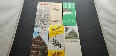 1960-80s Lot Of 6 Travel Brochures For The State Of Vermont Ski Trips & More