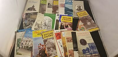 1950-80s Lot Of 40 Travel Brochures For The State Of Virginia Colonial Tours