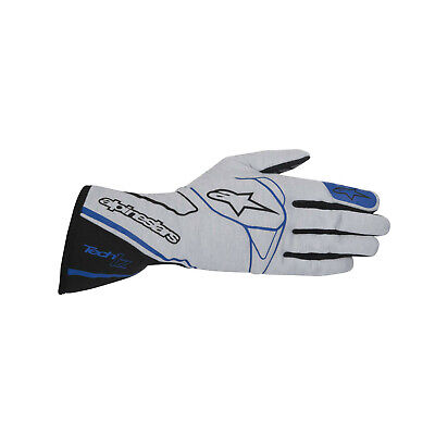 2017 Alpinestars Tech 1-Z Racing Gloves Silver/Blue - Genuine - L