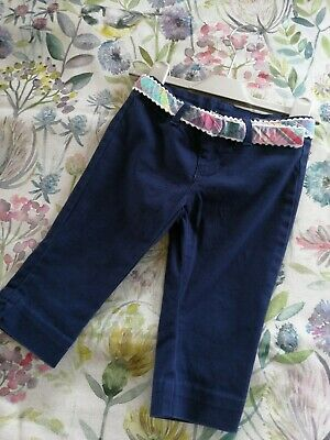 Ralph Lauren Navy Blue Little Girls Classic Chino Trousers Age 3 T