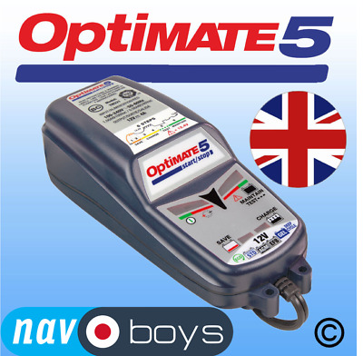Optimate 5 12v 4A battery charger and conditioner UK plug