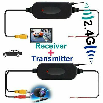 Wireless Transmitter Receiver For Car Camera Reverse Rear View Monitor 2.4Ghz